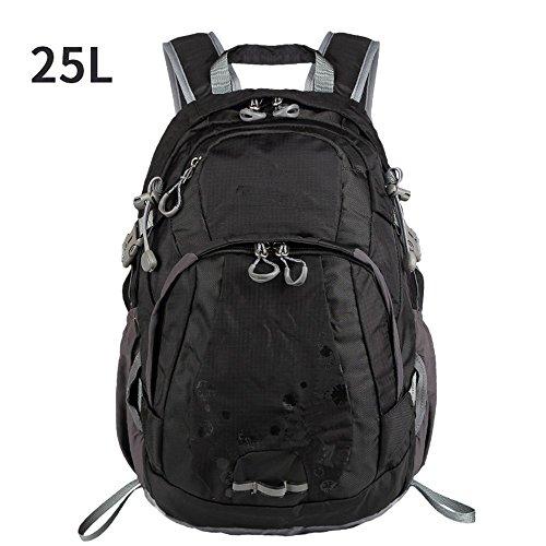 Zainodamontagnaspalleimpermeabilelucea piediper iltempo liberotempo liberomulti-funzionaleviaggioborsaall'apertobackpack,blue(25L) black(25L)