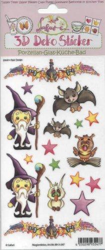 3D Porzellan Sticker * Magierdekor Zauberer Magie * Vielseidig Safuri