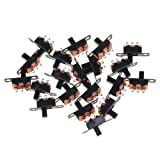 20pcs 5V 0.3 A Mini Size Black SPDT Slide Switch for Small DIY Power Electronic Projects