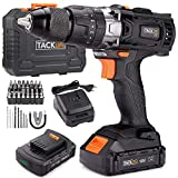 Cordless Drill, TACKLIFE 18v Electric Drill with Hammer, 2pcs 2.0A Li-Ion Batteries, 13mm