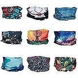 Deportes multiusos de Bandana - Datechip 12-in-1 diadema bufanda magica insectos escudo UV pulsera Balaclava headwrap cuello Polaina para mujeres hombres