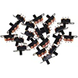 Mini Miniatura Tamaño SPDT Interruptor Deslizante SPDT Slide Switch Negro