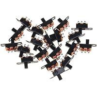 SPDT Interruptor Deslizante Miniatura -Negro