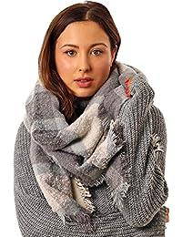 STYLE SLICE Winter Scarfs Women Blanket Scarf - Plaid Tartan Scarf Ladies - Scottish Gifts - Ladies Winter Scarves - Large Oversized Shawls Wraps Shrugs Poncho - Hygge Cosy - Presents