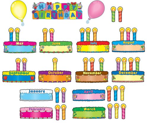 BIRTHDAY CAKES MINI BULLETIN BOARD SET