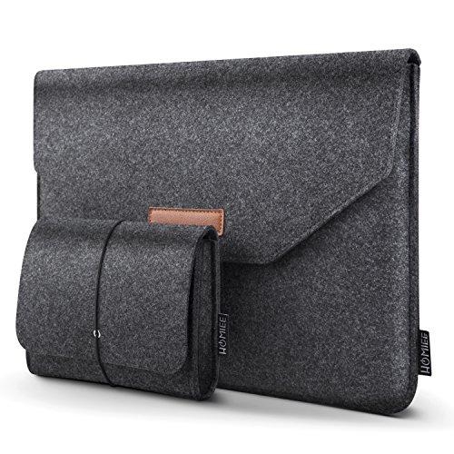 HOMIEE - Notebooktasche für MacBook Pro Retina, MacBook Air, 12,9 Zoll (12,9 Zoll) iPad Pro, Dell/Lenovo/HP/Chormebook Ultra Slim Notebook, Dunkelgrau