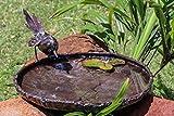 Farm and Garden Delizioso grande metallo bagno Ballerina uccello, 32cm diametro–parte della gamma di mano artigianale Tilnar commercio equo e solidale