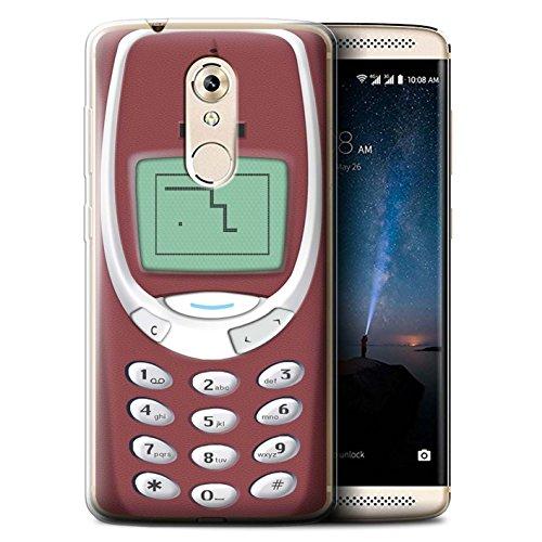 Stuff4® Custodia/Cover/Caso/Cassa Gel/TPU/Prottetiva Stampata con Il Disegno Telefoni retrò per ZTE Axon 7 Mini - Nokia Rosso 3310
