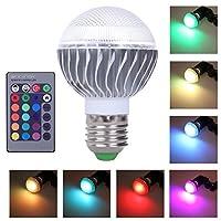 Demiawaking E27 3W 16 Colors Changing magic RGB LED Lamp Light Bulb with IR Remote Control