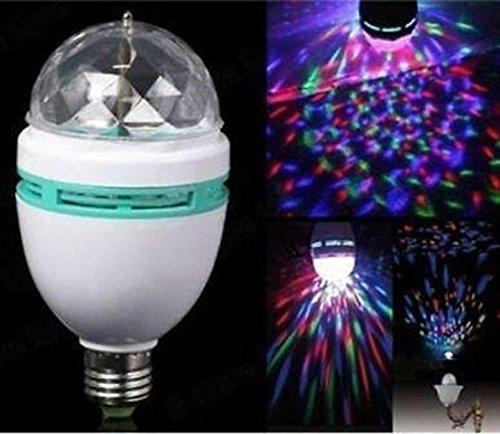 Keraiz - Bombilla LED de discoteca, E27, 40 W, multicolor