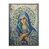 WOZOW Kit per Pittura Diamante 5D,Diamond Painting,Madonna Strass Incollato Punto Croce,DIY