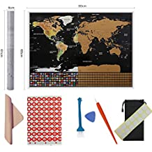 Amazon scratch world map scratch world map scratch cards travel essentials 31x23 pulgadas presume tu gumiabroncs Gallery