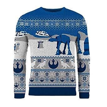 Star Wars Herren-Weihnachtspullover (M ) (Blau)