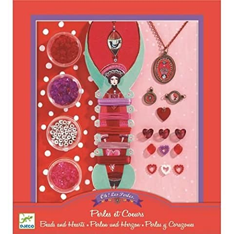 Djeco - Kit de création de bijoux - Perles et coeurs