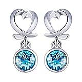Best Cross Jewelry Boxes - Peora Swarovski Elements Rhodium Silver Blue Crystal Designer Review