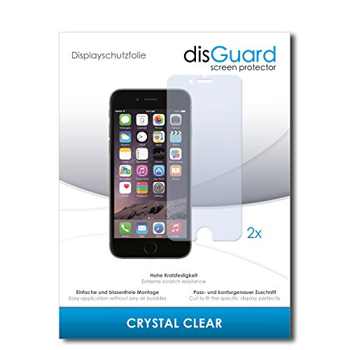 disGuard Pellicola protettiva per Apple Iphone 6s Plus/6 S Plus/6S + – QUALITÀ PREMIUM – Made in Germany 2 x disGuard Crystal Clear