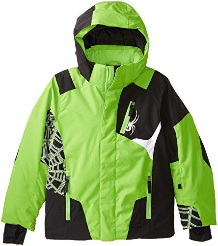 Spyder Challenger Jungen Jacke, Stratos, Jungen, Mantis Green/Black/White (Jacke Spyder-jungen)