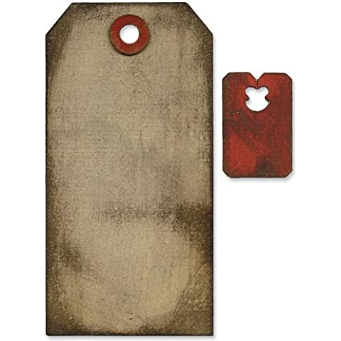 Sizzix Movers & Shapers Base morire di Tim Holtz-Tag & Tie