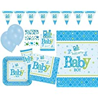 Amscan 90500309Party Set Welcome Little One Baby Boy