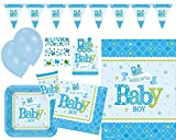 Amscan 9050 0309 Party Set Welcome Little One Baby Boy