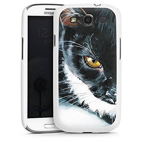 DeinDesign Samsung Galaxy S3 Hülle Case Handyhülle Cat Katze Schwarz Weiss