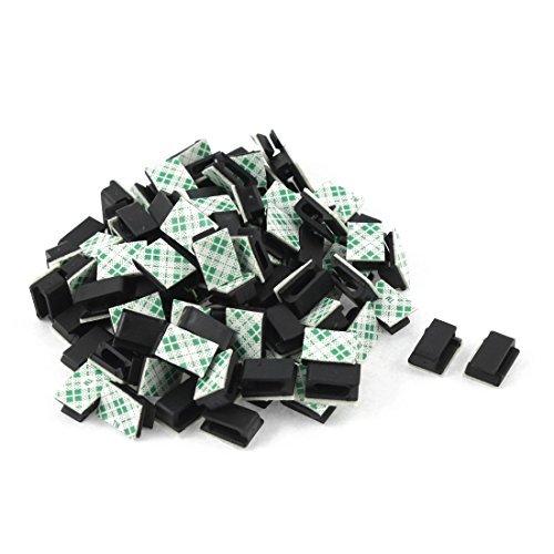 Clip de lazo de cable adhesivo   TOOGOO(R) 100 piezas clip de lazo de soporte de cable adhesivo organizador de caida de abrazadera
