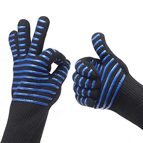 QIMANZI Heiß BBQ Grillen Handschuhe Kochen Extrem Hitze Beständig Ofen Schweißhandschuhe(C1)