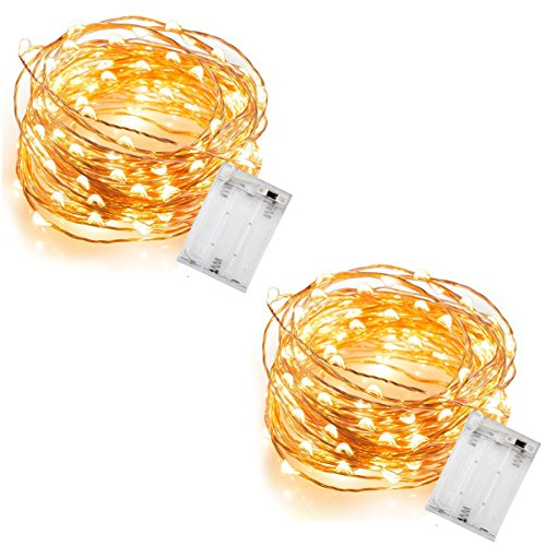 InnoWill Lichterkette Batterie Led [2 Packs] 5M 50 -