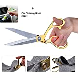 Orpio (Lable) Premium Stainless Steel Sewing/Tailoring Scissor, Fabric, Clothes, Altering Cutting Scissors (Golden)
