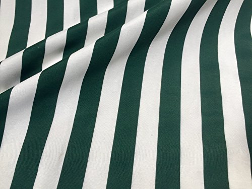 Khaki Weiß gestreiftem Stoff?Sofia Streifen Vorhang Polster 280cm extra breit (Meterware) (Streifen-polster-vorhänge-stoff)
