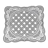 healifty Schablone aus Metall für Album Karte von Papier Kunst Handwerk Scrapbooking DIY (Gitter)