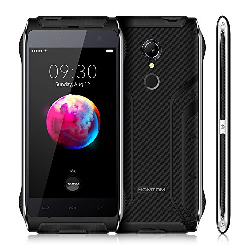 HOMTOM HT20 Pro 4G Smartphone Outdoor Smartphone - 4G FDD-LTE Ohne Vertrag 4.7 Zoll Android 6.0 Quad Core 3GB RAM+32GB ROM 8MP Hauptkamera Fingerprintsensor IP68 Wasserdicht Staubdicht Stoßfest (Schwarz)