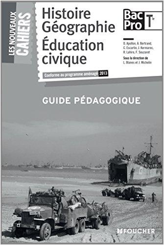 Les Nouveaux Cahiers Histoire-Géographie - Éducation civique Tle B.Pro Guide pédagogique