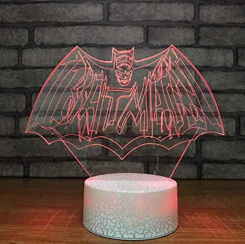 licht 3D optische Täuschung Lampe Schlafzimmer Schlaf Beleuchtung 7 Bunte Led Film Charakter Leuchte Dekoration Star Wars Modellierung Tisch ()