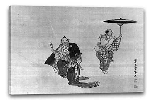 Printed Paintings Leinwand (120x80cm): Hanzan zugeschrieben - Kyogen Darsteller