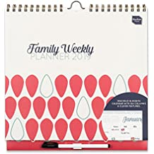 Boxclever Press 2019 Family Weekly Planner Wall Calendar. Week-to-View Family Organiser with 6 Columns for People with Busy Lives. Start Using Now 'til December 2019