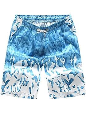 ZiXing Bañadores de Natación Hombre Secado Rápido Pantalones Cortos Playa Shorts Ligero Shorts