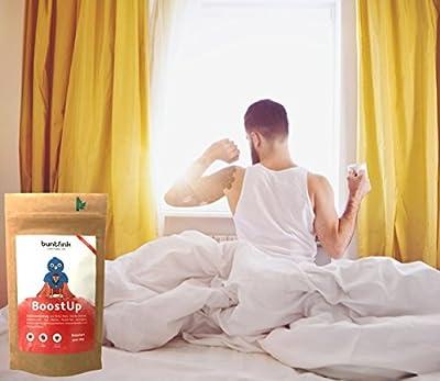 """""""Performance Pack"""" Morgentee + Abendtee, max. Koffein im Tee + Einschlaf- und Durchschlaftee, 10 Powerpflanzen + 10 Heilpflanzen, 100% natürliche Kräuterteemischung, Diät + Detox ready - 2x 60g, Made in Germany by Buntfink von Buntfink - Gewürze Shop"""