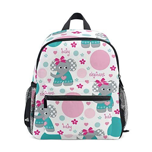 FAJRO- Bolso Escolar para niñas con diseño de Elefantes