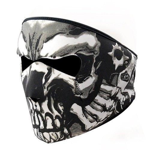 KT-SUPPLY 2 in 1 Neopren Maske Mit Klettverschluss Erwachsene Für Motorrad (Kostüm Halloween Sie Stecken)
