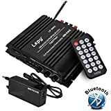 NKTECH 5A Power Supply Lepy LP-269S USB SD DVD CD FM MP3 Hi-Fi Bluetooth Wireless 4 Channels 45W RMS Digital Stereo Mulitimdia Audio Amplifier Player And Remote Controller