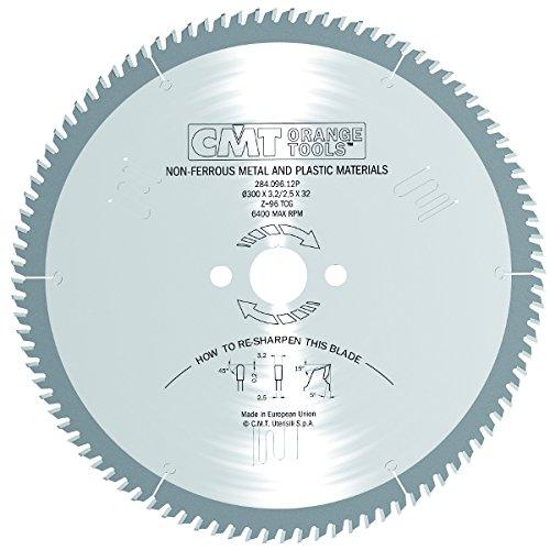 CMT Orange Tools 284.092.14P – Scie circulaire pour aluminium (Ø externe 350 mm, Ø du trou 32 mm, épaisseur lame 3,2 mm), 92 tranchants, angle de coupe 5°