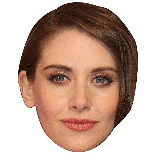 Celebrity Cutouts Alison Brie Maske aus Karton
