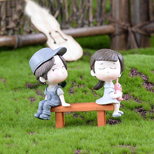 iche Stuhl mit Mini-Landschaft DIY Dekoration Garten Dollhouse Dekor grau (Niedliche Halloween Dekor)