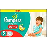 Pampers - Baby-Dry Pants - Couches Taille 5 (12-18 kg/Junior) - Mega (x72 couches)