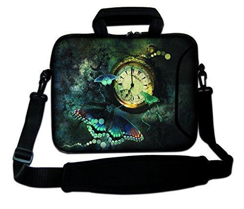 DCCN 15 Zoll/15,6 Zoll Laptoptasche Neopren Notebooktasche mit Zubehörfach und Schultergurt
