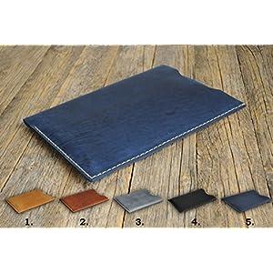 Handgenähtes Leder Etui Hülle Tasche Cover Case personalisierbar durch Prägung. Gut für iPad Pro 12.9-inch, 11-inch, 10.5-inch, 9.7-inch, 7.9-inch mini 4 Air 2 3