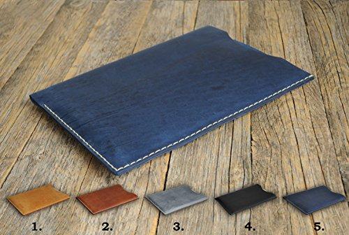 Handgenähtes Leder Etui Hülle Tasche Cover Case personalisierbar durch Prägung. Gut für iPad Pro 12.9-inch, 11-inch, 10.5-inch, 9.7-inch, 7.9-inch mini 4 Air 2 3 (Mini Tablet Ich)