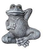 Steinfigur Frosch liegend - Schiefergrau, Garten, Deko, Stein, Figur, Frostsicher