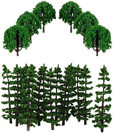D DOLITY 40pcs 1:100 Arbres Miniatures Vert Modèle Modèle Modèle Arbre Echelle Déco Train N HO | Une Bonne Conservation De Chaleur  3e7a5a